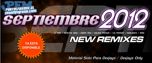 4896: Musicaremix Septiembre 2012 (120 Remix + 19 Videos) (torrent y mediafire)